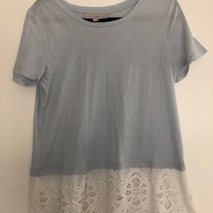 Loft women's shirt with lace edge